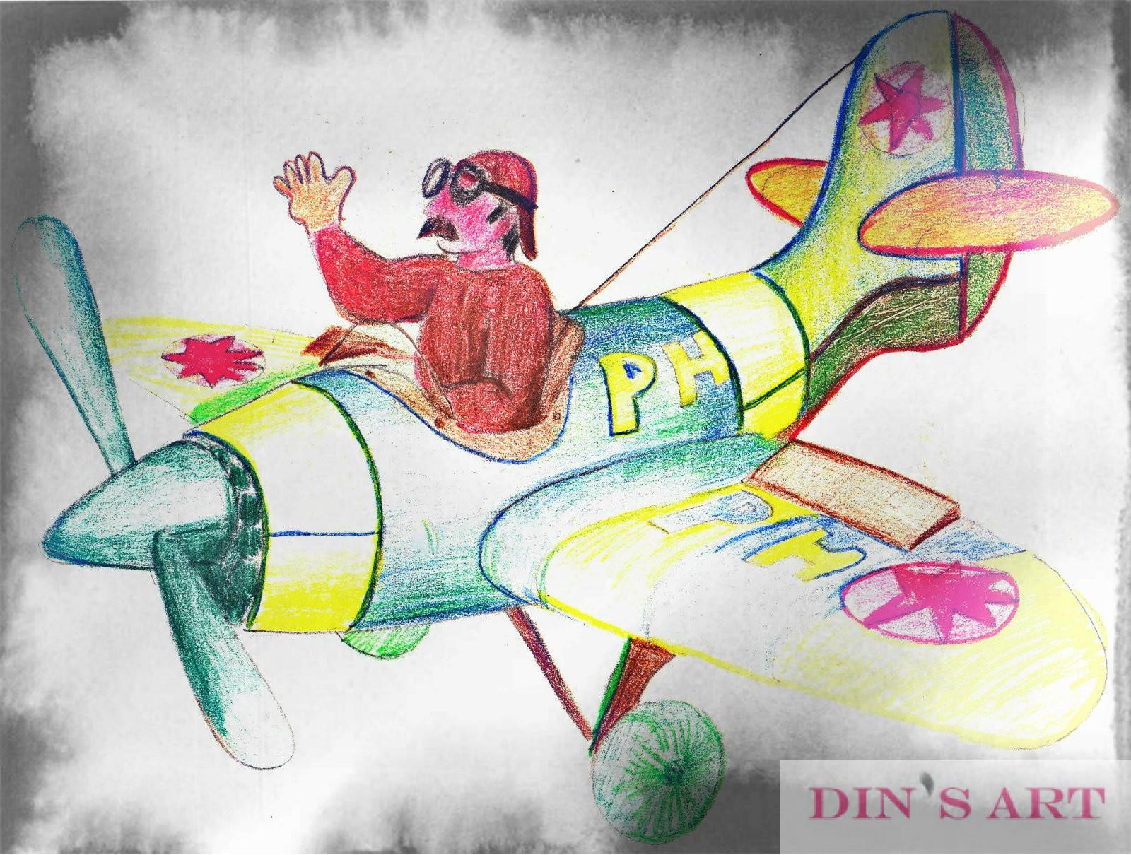 Pappa Henk's piloot getekend voor dochter Adinda - Daddy Henk's pilot drawn for daughter Adinda